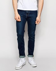 Weekday Friday Skinny Jeans In Stretch Rumble Blue Dark Rumble Blue