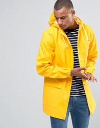 D Struct Mid Length Waterproof Jacket With Hood Yellow