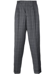 Paul Smith Plaid Tailored Trousers Grey