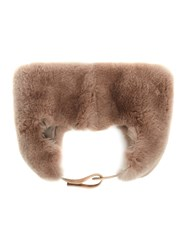 Max Mara Rabbit Fur Boxing Style Hat