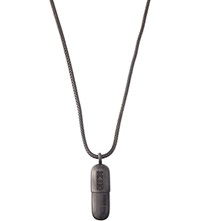 Ktz Pill Pendant Necklace Black Matte