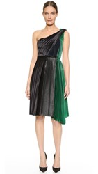 Cedric Charlier One Shoulder Dress Black