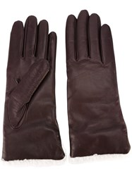 Paul Smith Contrasting Trim Gloves Pink Purple