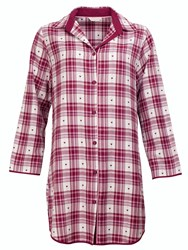 Cyberjammies Scarlet Check Nightshirt Red