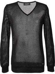 Dsquared2 Open Knit Jumper Black