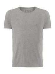 Label Lab Band Crew Neck T Shirt Grey Marl