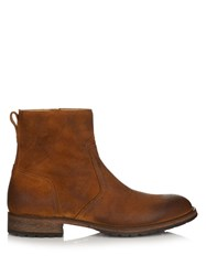 Belstaff Attwell Burnished Suede Boots Tan