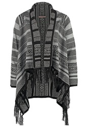 Anna Field Cardigan Black Grey Melange