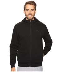 Puma P48 Core Sherpa Full Zip Hoodie Cotton Black Men's Sweatshirt