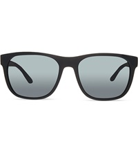 Giorgio Armani Rubber Square Sunglasses Black Rubber