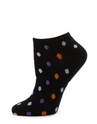 Kate Spade Polka Dot Ankle Socks Black