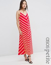 Asos Petite Chevron Stripe Maxi Dress Multi