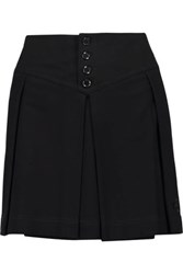 Y 3 Pleated Cotton Mini Skirt Black
