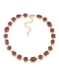 1St And Gorgeous Cabochon Stone Collar Necklace Garnet