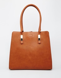 Warehouse Premium Bar Detail Tote In Tan