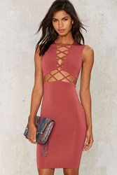 Rock Me Amadeus Cutout Dress Pink