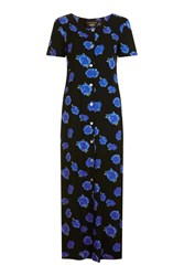 Topshop Finds Floral Button Down Maxi Dress By Black