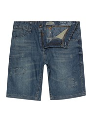 Blend Of America Denim Shorts Mid Blue