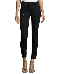 Versace Studded Skinny Ankle Trousers Black