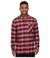 Rip Curl Countdown Long Sleeve Flannel Red Men's Clothing