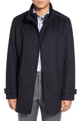 Boss Men's 'Camlow' Wool And Cashmere Car Coat Dark Blue