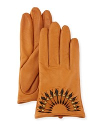 Ugg Studded Leather Short Gloves B.Tan Brn