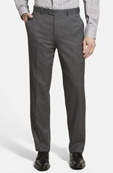 Linea Naturale High Twist Wool Trousers Charcoal