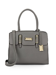 Catherine Malandrino Christina Saffiano Faux Leather Satchel Slate