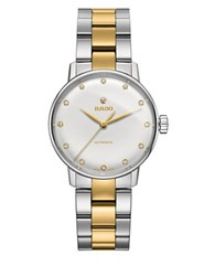 Rado Coupole Classic Wesselton Diamonds Stainless Steel And Goldtone Ceramos Automatic Watch Two Tone