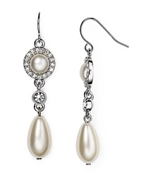 Lauren Ralph Lauren Pave Drop Earrings Silver