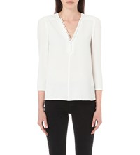 Claudie Pierlot Barcelone Crepe Top Ecru