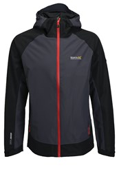 Regatta Semita Outdoor Jacket Seal Grey Black Dark Gray