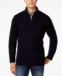 Barbour Half Zip Mock Collar Wool Sweater