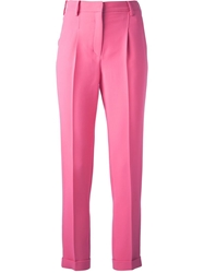Valentino Cropped Trouser Pink And Purple