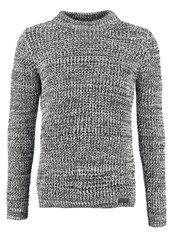 Superdry Nordic Depth Jumper White Black Mottled Grey