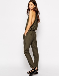 Pull And Bear Pullandbear Utility Jumpsuit Khaki