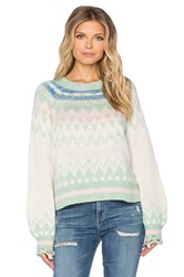 Wildfox Couture Fairisle Fancy Sweater Green