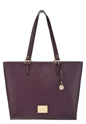 L.Credi Tote Bag Aubergine Dark Purple
