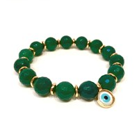 Eye Of The Sea Evil Eye Charm Bracelet Green