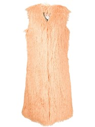 Shrimps Long Sleeveless Jacket Yellow And Orange