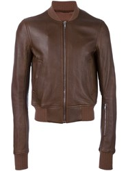 Rick Owens Classic Bomber Jacket Brown
