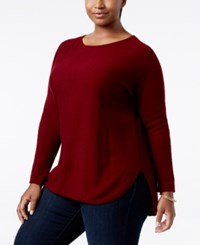 Charter Club Plus Size Cashmere Shirttail Sweater Only At Macy's Crantini