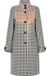 Bottega Veneta Paneled Polka Dot Wool Coat