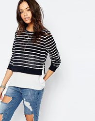 Only Rope Striped 2 In 1 Jumper Multi