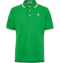 Boast Contrast Tipped Pique Polo Shirt Green