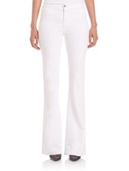 J Brand 2387 High Rise Tailored Sateen Flared Jeans Blanc