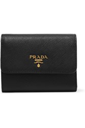 Prada Textured Leather Wallet Black