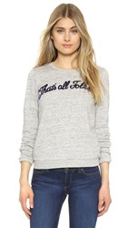 Eleven Paris That's All Folks Sunny Sweatshirt Grey Chine