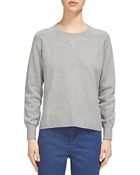 Whistles Two In One Mixed Media Sweatshirt Grey