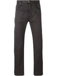 Armani Jeans Trim Detail Straight Leg Trousers Black